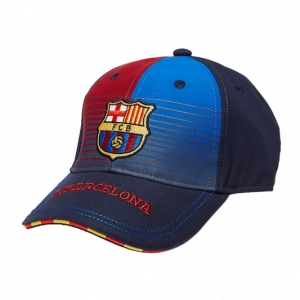 Casquette Adulte FC Barcelone Marine et Rouge Supporter Football Holiprom