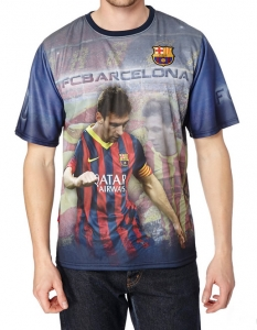 T-Shirt Adulte FC Barcelone Joueur Messi Supporter Football HOLIPROM