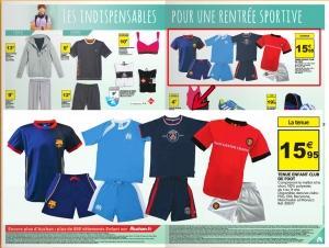 Auchan-catalogue-GSA-parution-fc-barcelone-manchester-united-mini-kit-enfant-maillot-short-holiprom