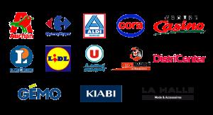 GSA-nos-clients-auchan-carrefour-cora-aldi-casino-leclerc-lidl-super-u-intermarche-mousquetaires-districenter-gemo-kiabi-la-halle
