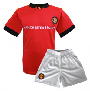 Mini-Kit Enfant Maillot + Short Equipe Manchester United Supporter Football HOLIPROM