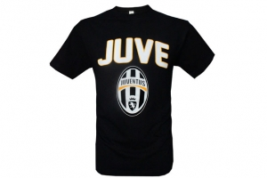 T-Shirt Adulte Noir Football Equipe Juventus de Turin HOLIPROM