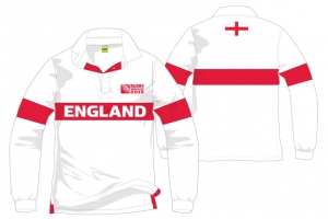 Polo Manches Longues Angleterre Rugby World Cup 2015 Logo HOLIPROM