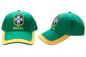 Casquette Adulte CBF Brésil Jaune et Verte Supporter Football HOLIPROM