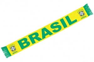 Echarpe CBF Brésil Jaune et Verte Supporter Football HOLIPROM
