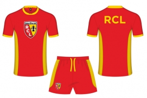 Mini-Kit Enfant Maillot + Short Equipe RC Lens Supporter Football HOLIPROM
