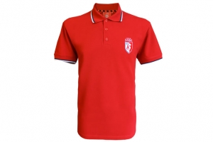 Polo Adulte Rouge Supporter Football Equipe LOSC HOLIPROM