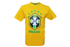 T-Shirt Adulte Jaune CBF Big Logo Supporter Football HOLIPROM