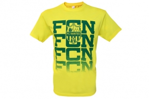 T-Shirt Adulte Supporter Football Equipe FC Nantes HOLIPROM