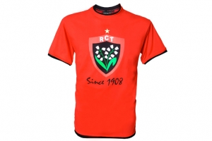 T-Shirt Homme Rouge Supporter Rugby RC Toulon HOLIPROM