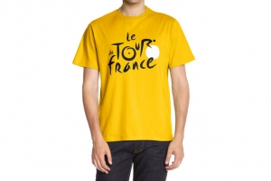 T-Shirt Jaune Logo Tour de France Cyclisme HOLIPROM